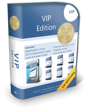 Boekhouden in Excel VIP Edition