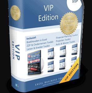 Boekhouden in Excel VIP Edition 3.0