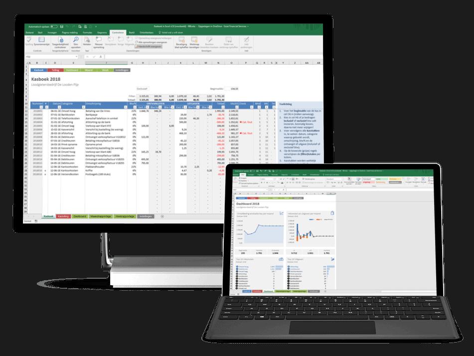 Simpel en compleet Kasboek in Excel