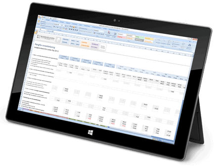 Boekhouden in Excel op een Windows tablet