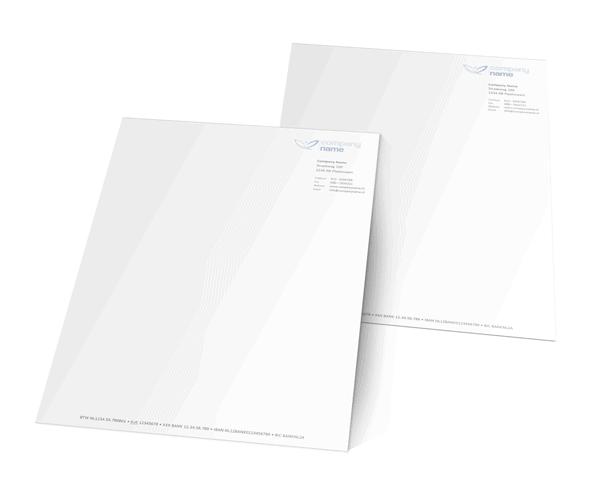 Briefpapier sjabloon in Word alternatief
