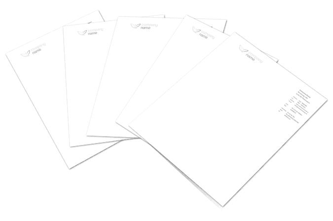 Briefpapier stapel in Word sjabloon