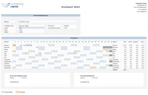 Urenkaart Urenregistratie in Excel
