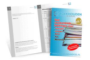 Veel voorkomende boekingen - cook book