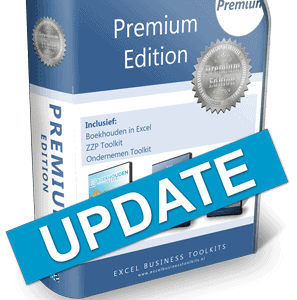 Boekhouden in Excel Premium Edition Update