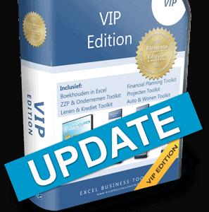 Boekhouden in Excel VIP Edition Update