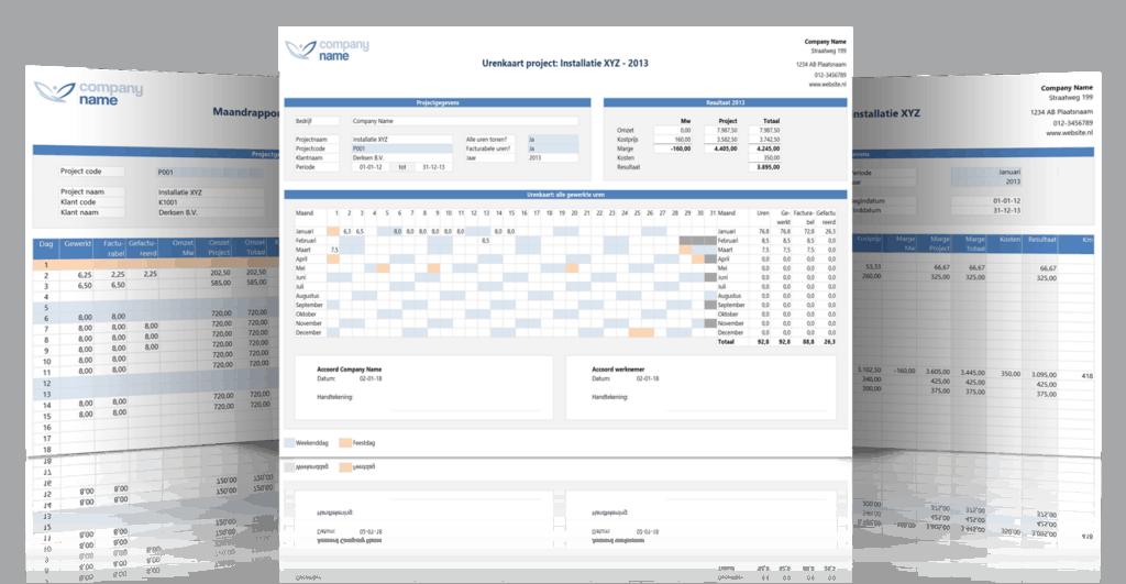 Excel urenregistratie voor Projecten