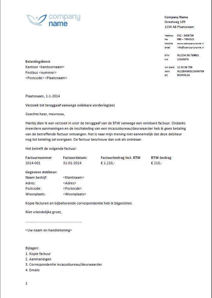 voorbeeldbrief verzoek Voorbeeldbrief Verzoek | hetmakershuis