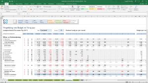Vergelijking budget met realisatie