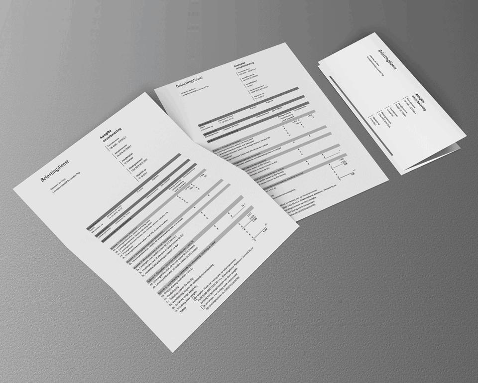 BTW-aangifteformulier belastingdienst papier