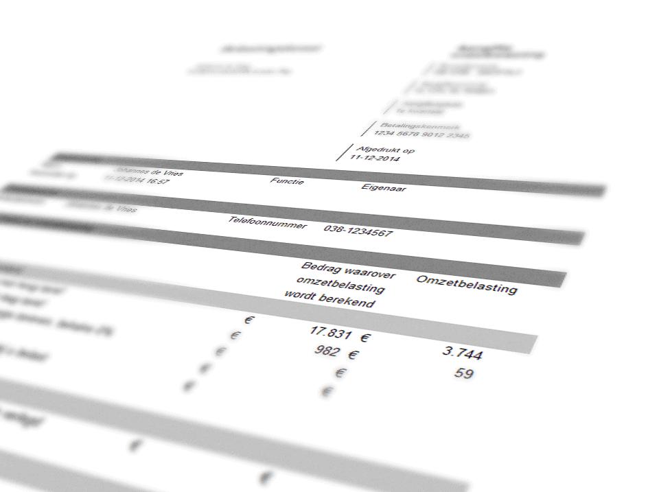 BTW-aangifteformulier belastingdienst zoom