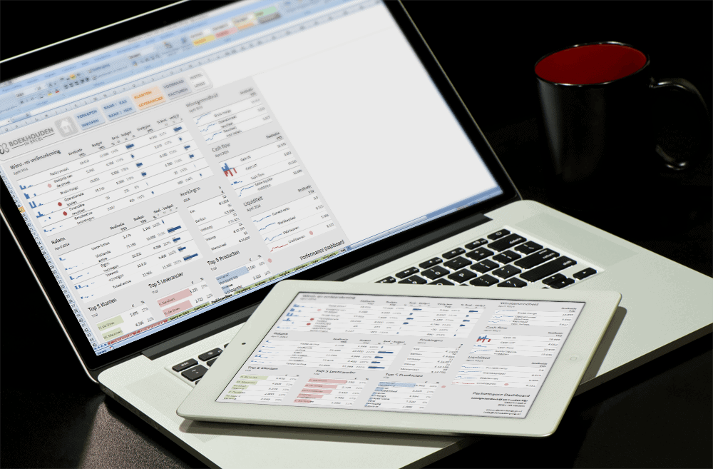 Excel dashboard MacBook en iPad