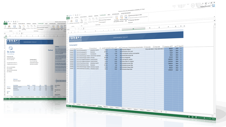Facturen in Excel Premium screenshots