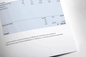 Excel factuur detail
