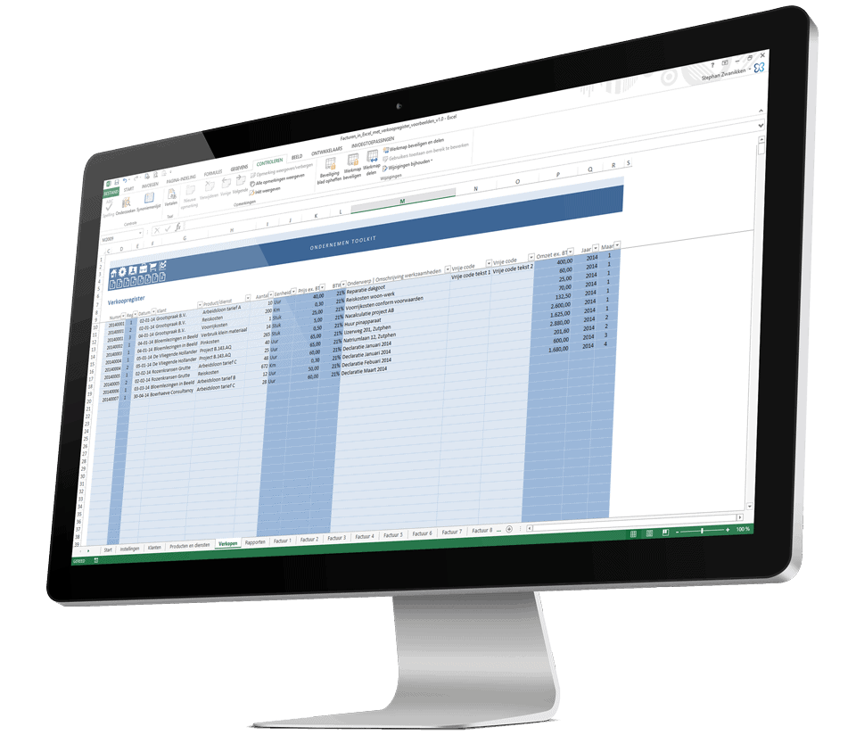 Een Excel factuur maken op een professionele manier