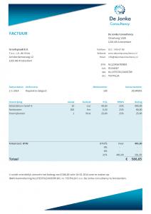 Excel factuur ontwerp 1