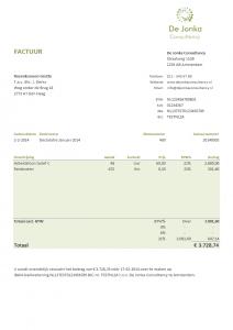 Excel factuur ontwerp 3