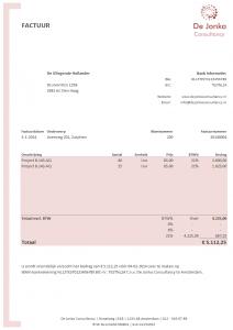 Excel factuur ontwerp 4