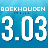Boekhouden in Excel 3.03