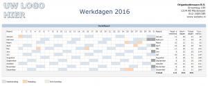 Ziekteverzuim in Excel - Werkdagen berekenen