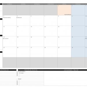 business planner maandindeling