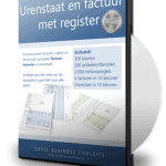 Urenstaat met factuur en register