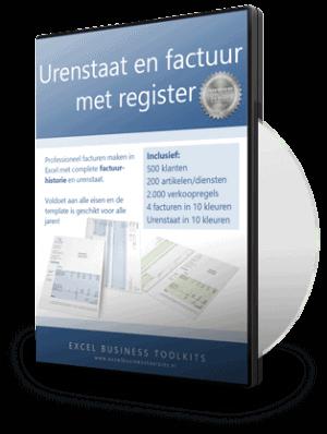 Urenstaat met factuur en register
