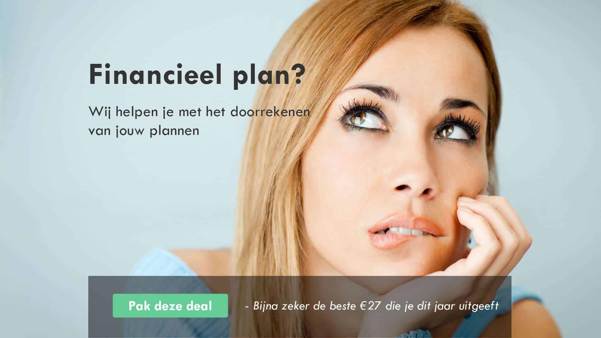 Financieel plan opstellen?