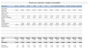 Kilometerregistratie Kosten Cumulatief