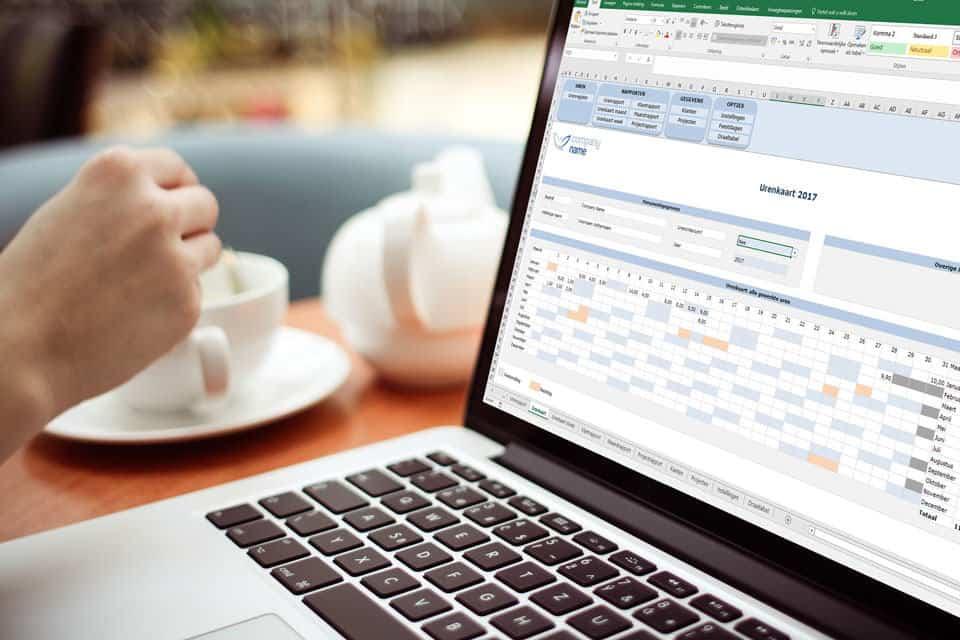 Starten met een eenmanszaak gaat makkerlijker met Urenregistratie in Excel Premium Edition