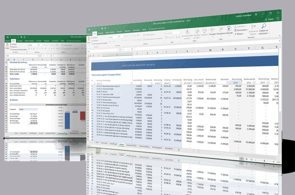 Activa verloopstaat in Excel