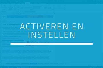 Boekhouden in Excel - Stap 1 Activeren en instellen