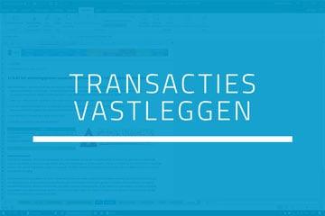 Boekhouden in Excel - Stap 3 Transacties vastleggen