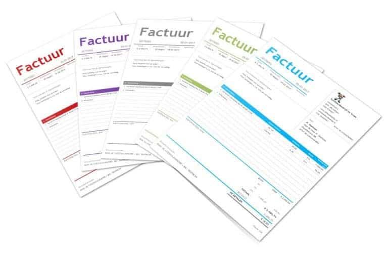 factuursjabloon Boekhouden in Excel 5.0