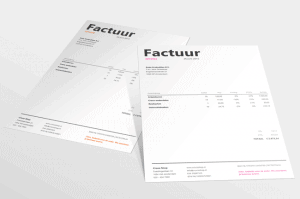 minimalistische factuur in Excel Alant