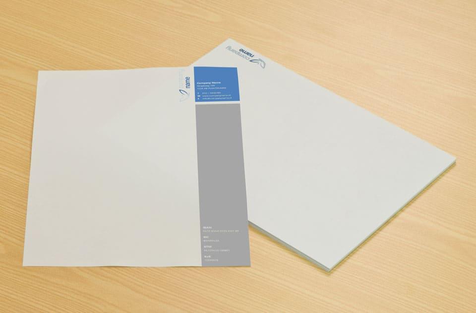 briefpapier sjabloon vervolgpapier