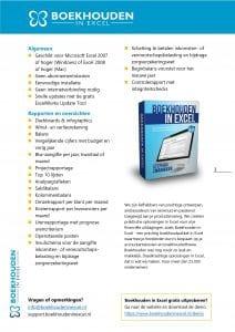 Functielijst Boekhouden in Excel