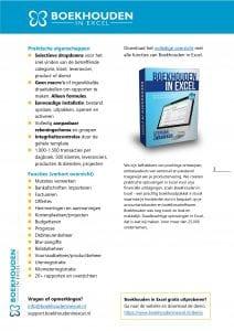 Voordelen Boekhouden in Excel
