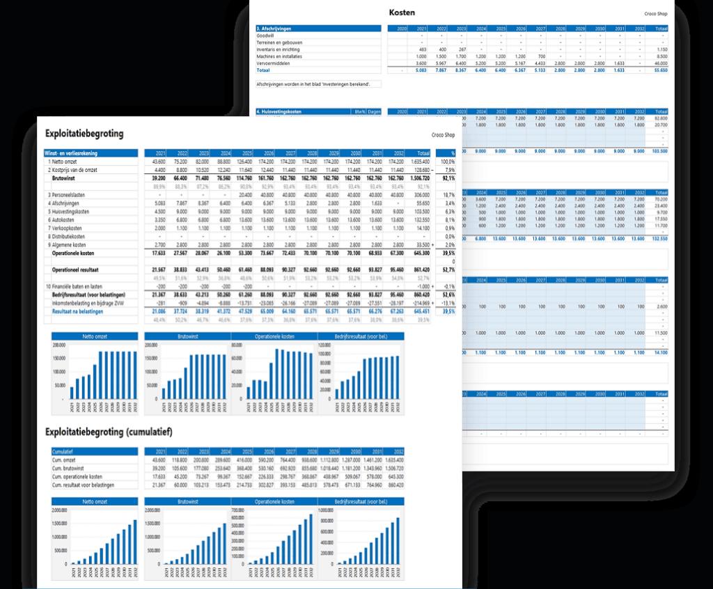 Meerjarenplan maken in Excel 3.0