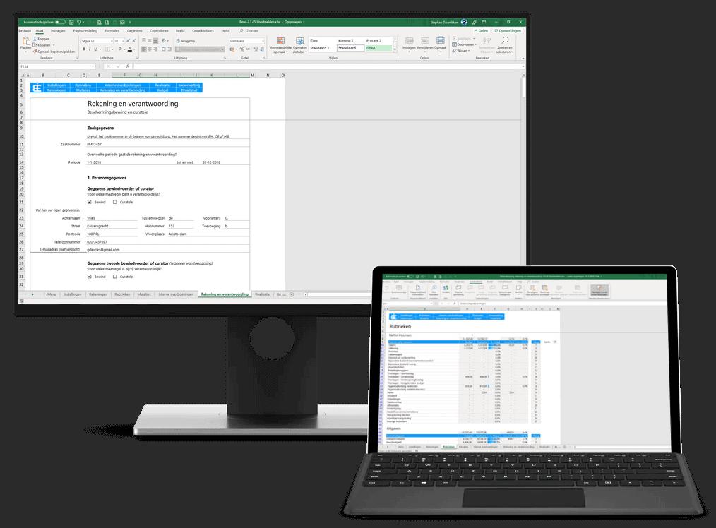 Bewindvoering in Excel 2.1