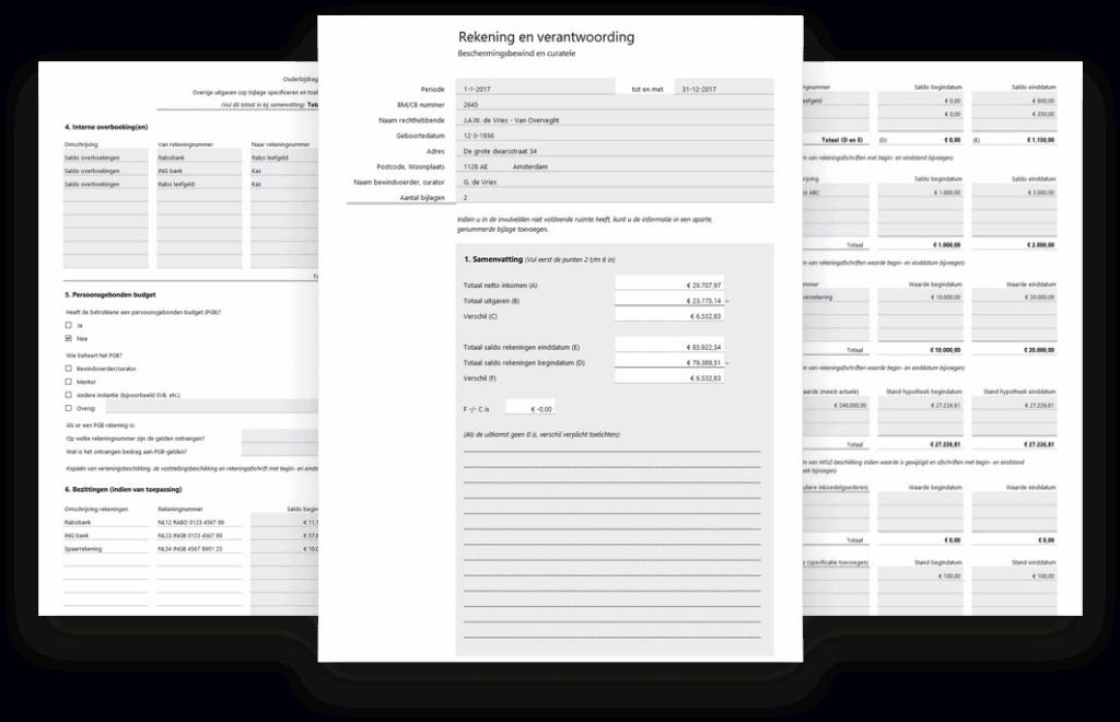 Bewindvoering in Excel - rekening en verantwoording