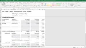 Schermvoorbeeld Bewindvoering in Excel