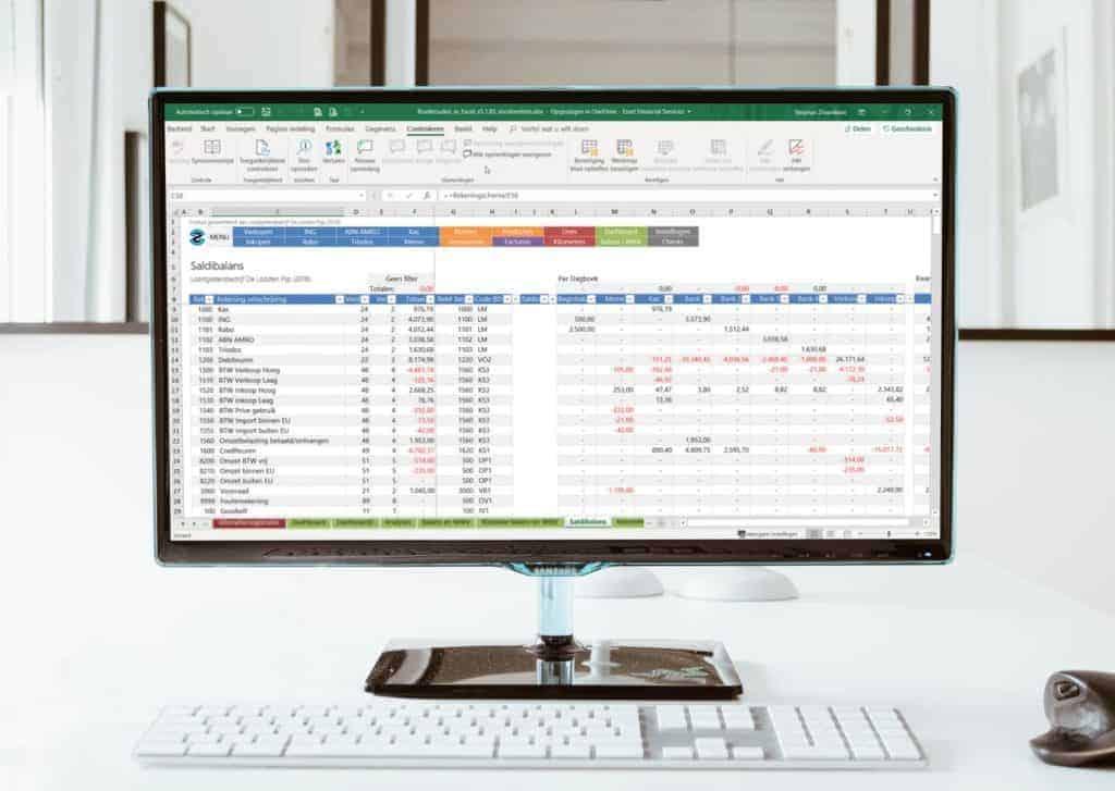 Boekhouden in Excel 5.1 PC