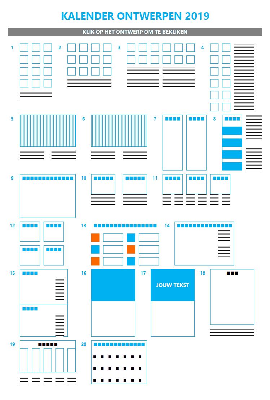 20 Excel kalender ontwerpen menu