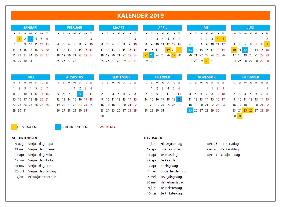 Kalenderontwerp 3