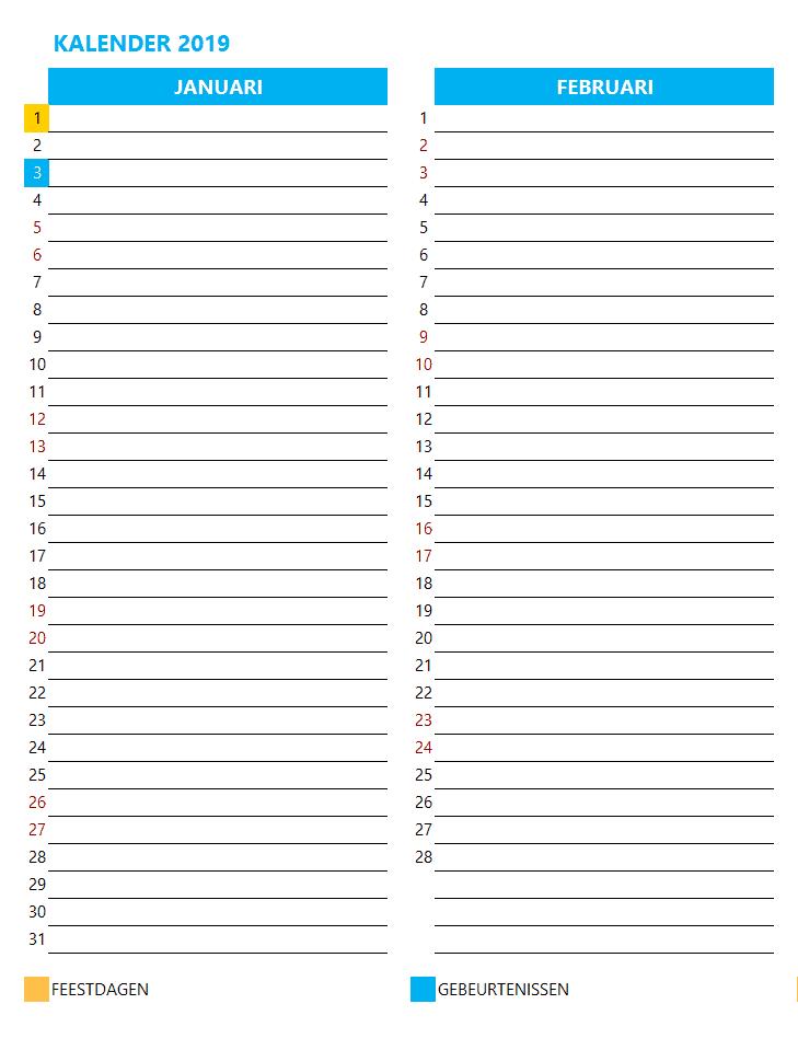 Kalenderontwerp 7