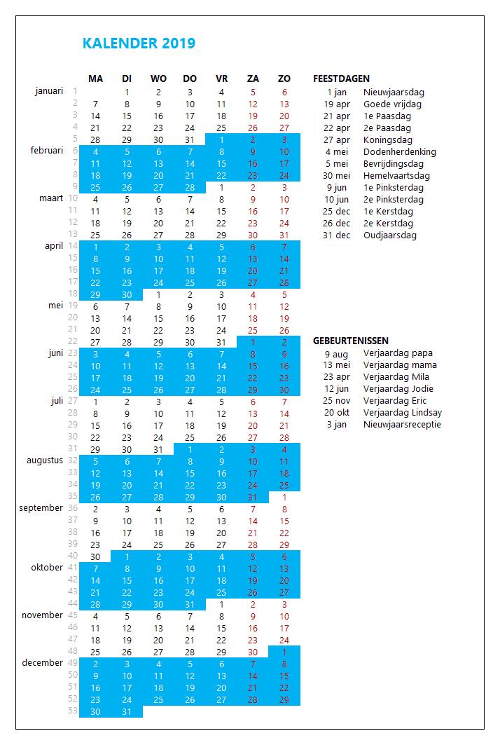 Kalenderontwerp 8