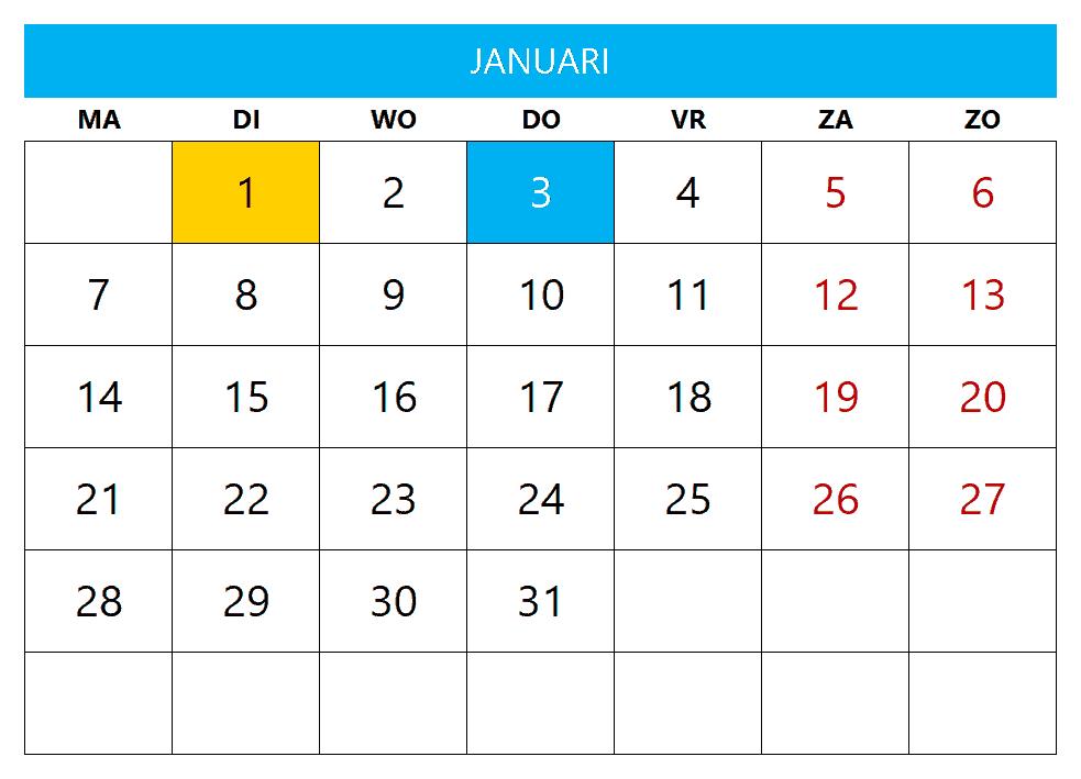 Kalenderontwerp 9
