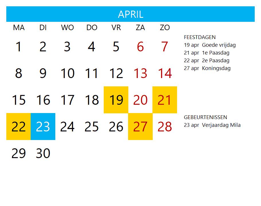 Kalenderontwerp 14