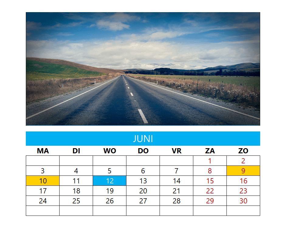 Kalenderontwerp 16